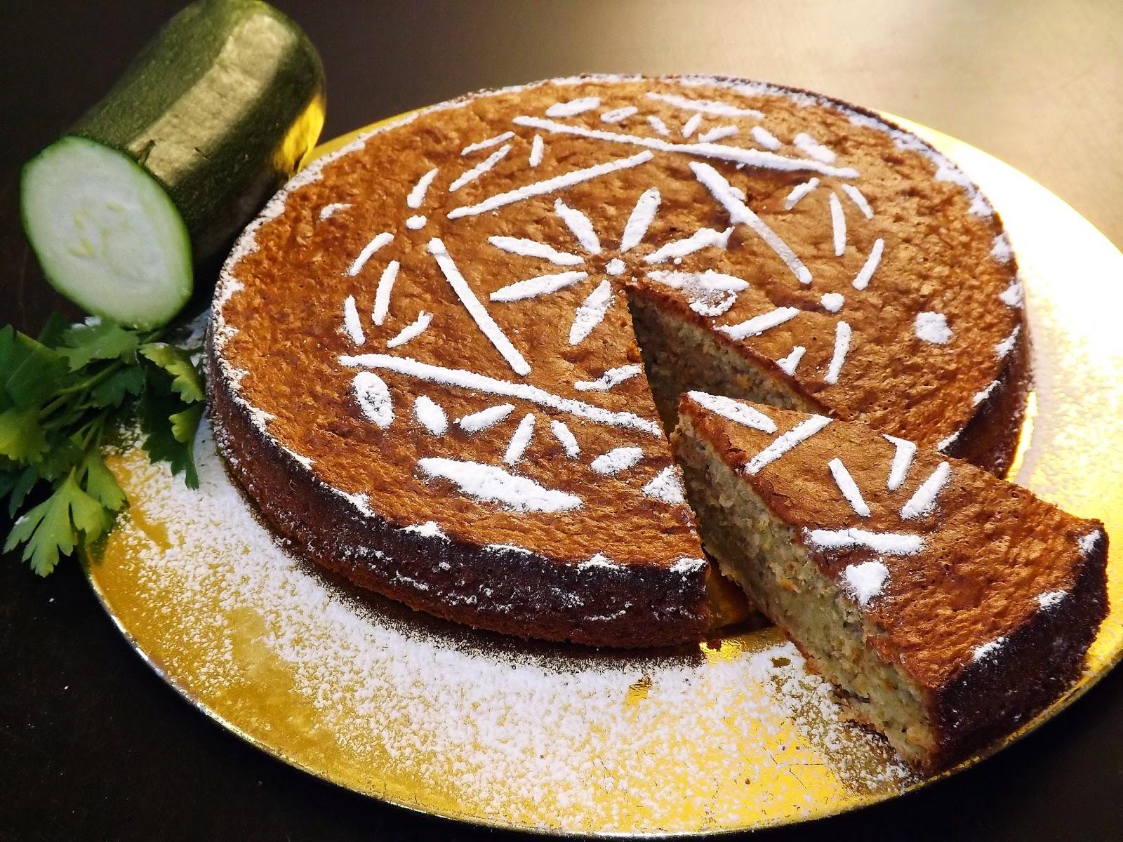 Ciasto z cukinią i natką pietruszki