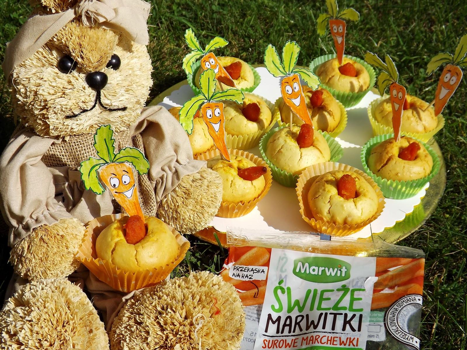 Babeczki z marchewką o nucie pomarańczowej- lunch kids do szkoły