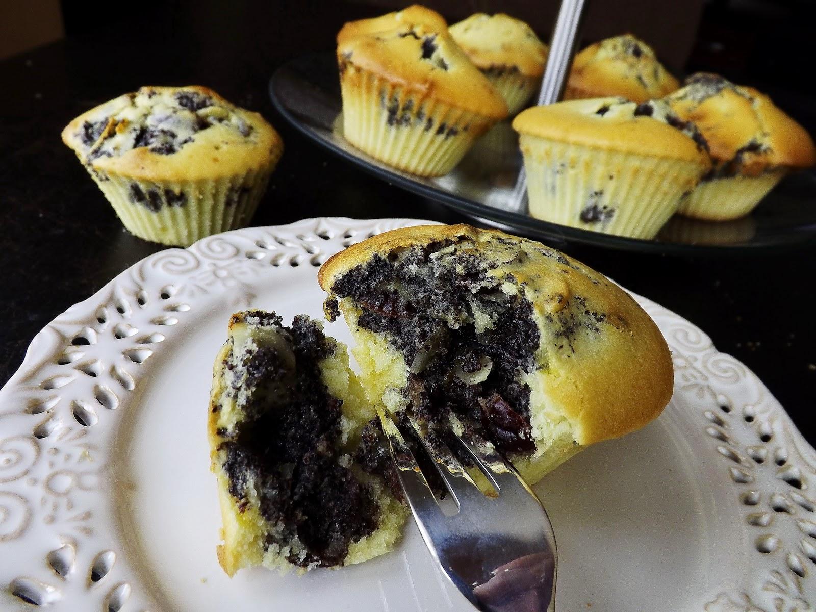 Muffinki z masą makowo bakaliową