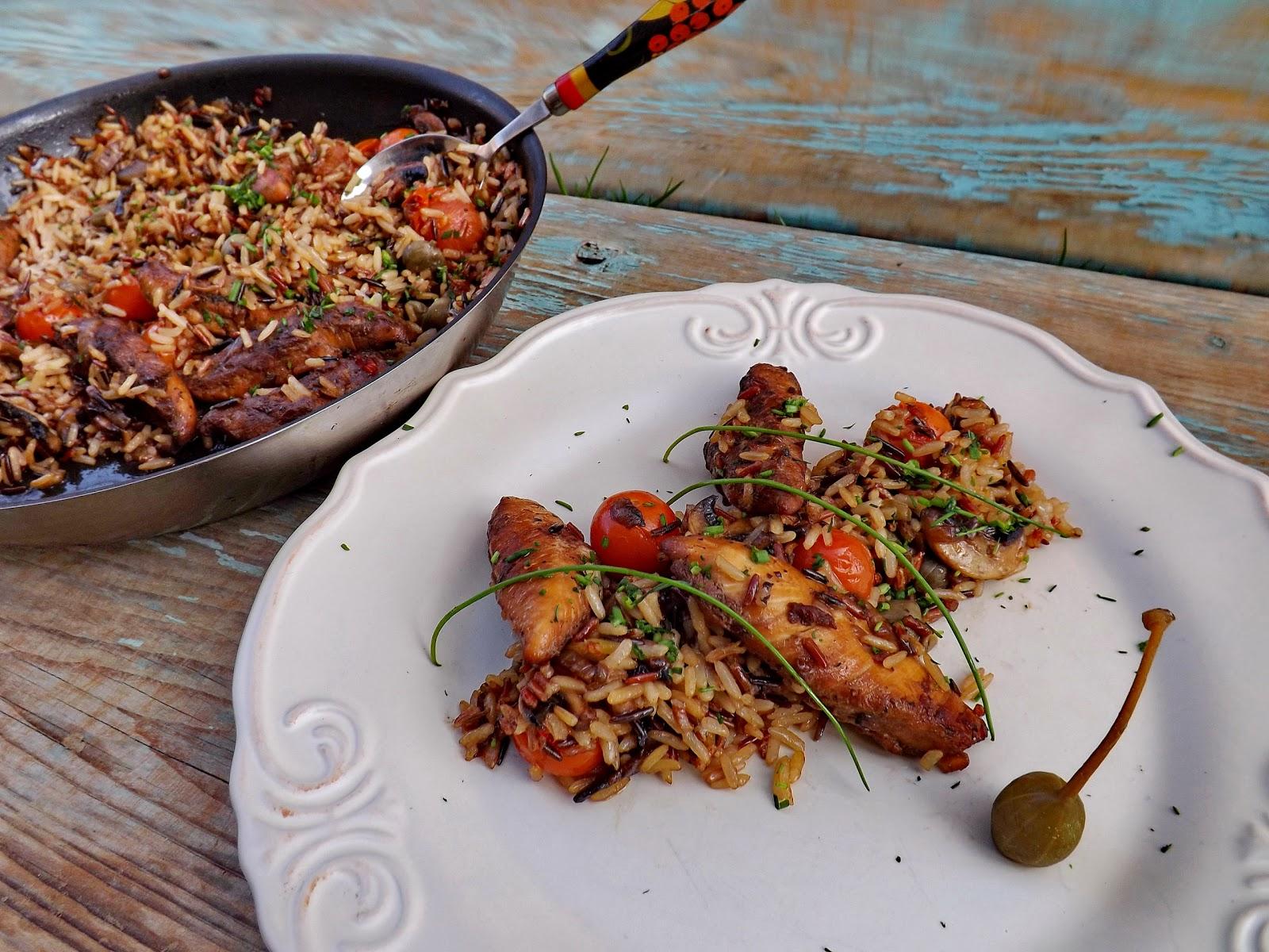 Ryż z polędwiczkami z kurczaka