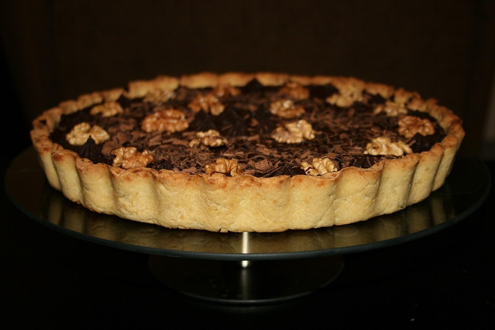 Tarta mocno czekoladowa z daktylami