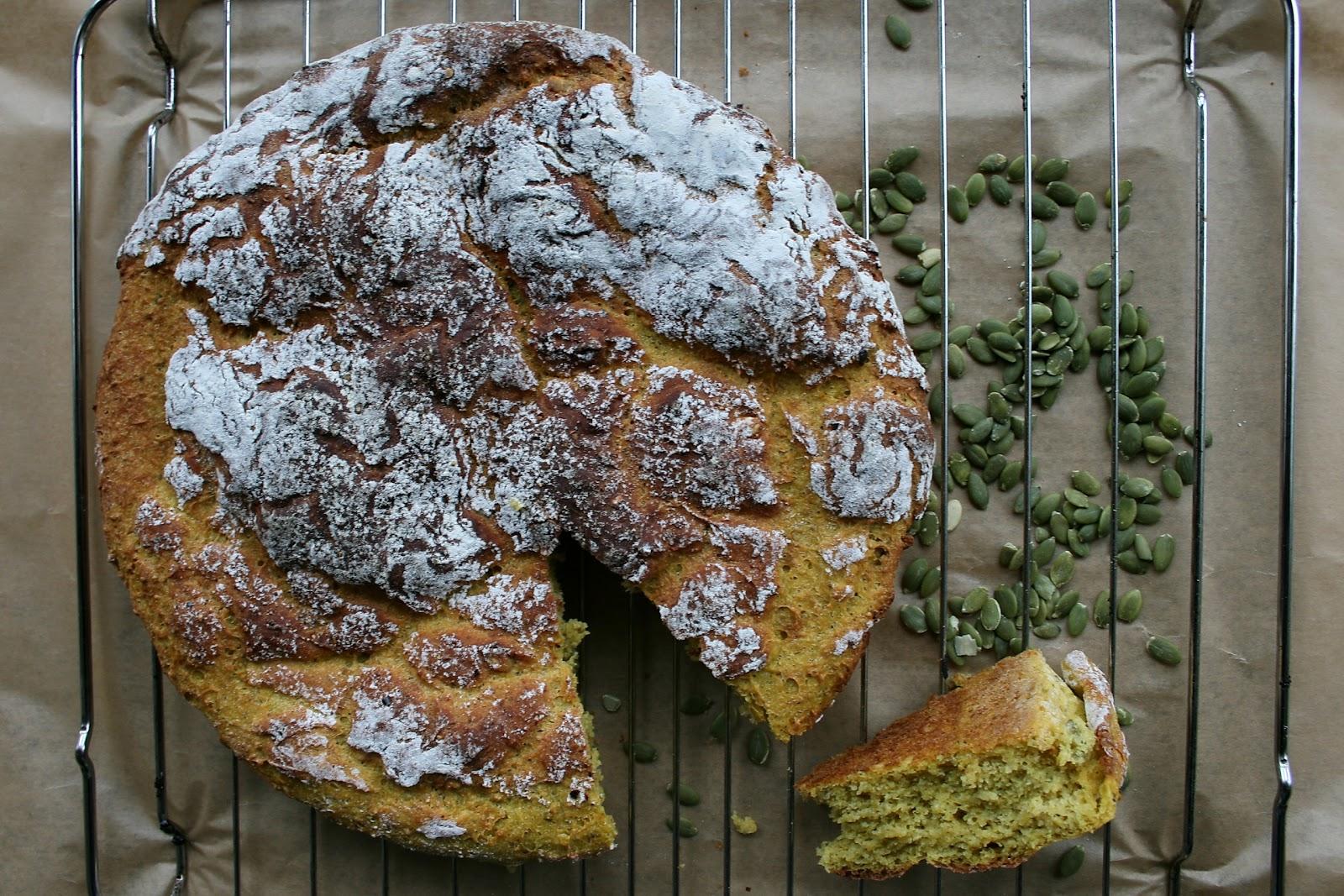 Drożdżowe ciasto (chlebowe) dyniowe na ostro