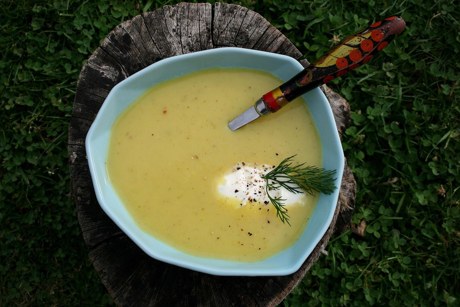 Zupa krem ziemniaczana z porem i cebulą