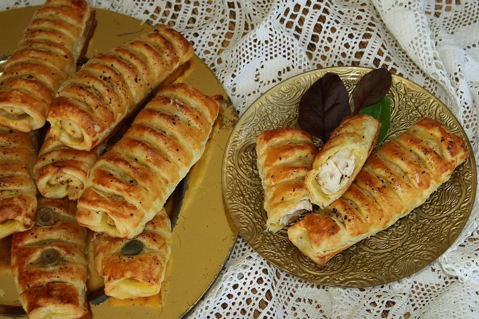 Polędwiczki z kurczaka w cieście francuskim