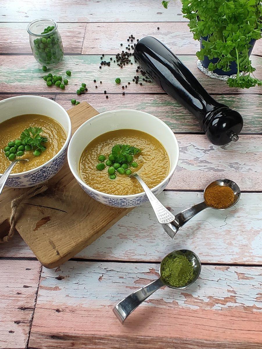 Zupa – krem z warzyw z curry i matcha