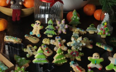 Kruche ciasteczka lukrowane