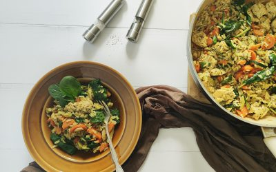Ryż z polędwiczkami i warzywami